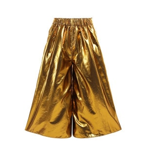 Pantalon Taffeta Lurex Doré