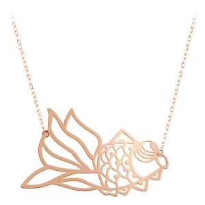 Collier Goldfish Jumbo Or Rose