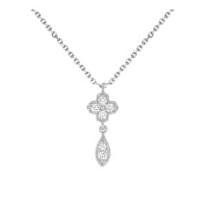 Collier Simple Fleurs du Mal Or Diamants