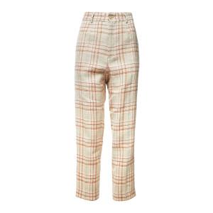 Pantalon Tartan Lin Coton Rose Poudre
