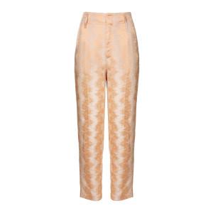 Pantalon Fluide Jacquard Terracotta