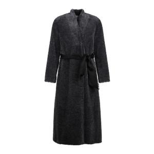 Manteau Peau de Mouton Gris