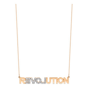 Collier Fairies Revolution Or Rose Diamant