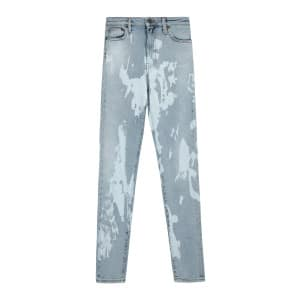 Jean Tie And Dye Coton Denim Bleu