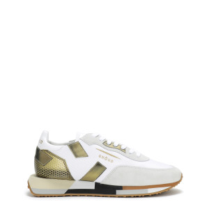 Baskets Running Cuir Multi Rush Blanc Bronze