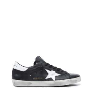 Baskets Homme Superstar Cuir Noir Blanc