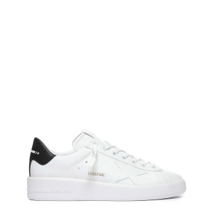 Baskets Homme Pure Star Cuir Blanc Noir