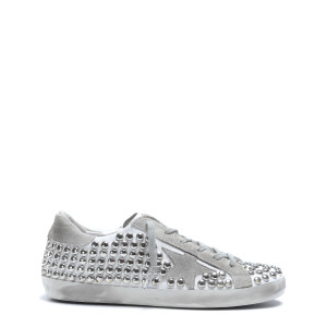 Baskets Superstar Old Cuir Clous Blanc
