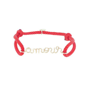 Bracelet Cordon Ciré Amour Gold Filled