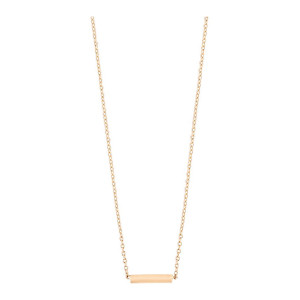 Collier Gold and Diamond Strip Or Rose