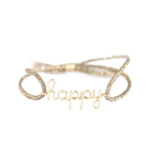 Bracelet Cordon Lurex Enfant Happy Gold Filled 9K