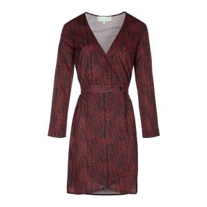 Robe Austria Imprimé Strates Rouge