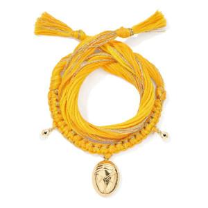 Bracelet Honolulu Charm Scarabée Jaune Plaqué Or