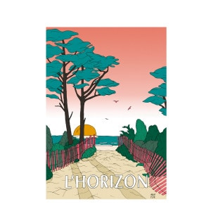 Affiche L'Horizon 30x40cm