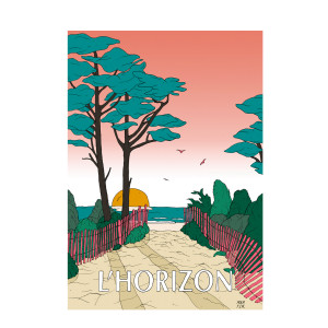 Affiche L'Horizon 50x70cm