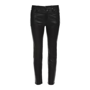 Pantalon Nico Cigarette Cuir Noir