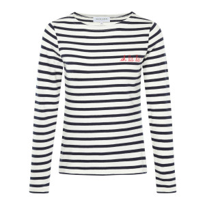 Tee-shirt Sailor Oh La La ! Coton Ivoire Navy Rouge