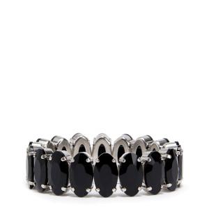 Bracelet Laiton Noir Argenté
