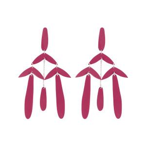 Boucles d'oreilles Laiton Rose Argenté