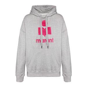 Sweatshirt Hoodie Mansel Coton Gris