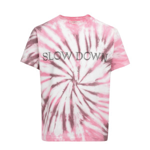 Tee-shirt Zewel Coton Tie and Dye Rose