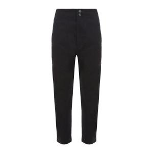 Pantalon Pralunia Coton Noir Délavé