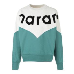 Sweatshirt Houston Coton Vert Menthe