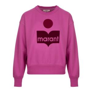 Sweatshirt Mobyli Coton Rose Néon
