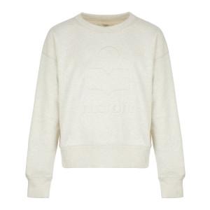 Sweatshirt Mobyli Coton Écru