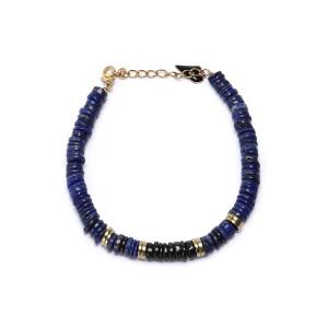 Bracelet Puka M Onyx Lapis-Lazuli