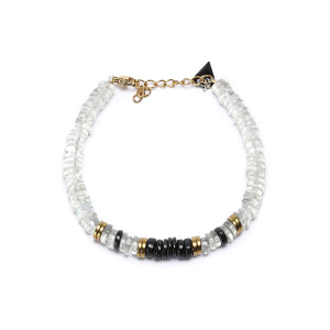 Bracelet Puka M Onyx Quartz Vert