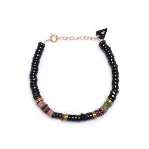 Bracelet Puka M Onyx Tourmaline