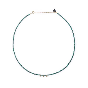 Collier Facettes Perles Malachite