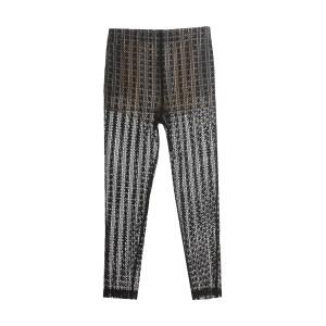 Pantalon Dentelle Coton Noir