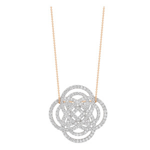 Collier Purity Baby Or Rose Diamants