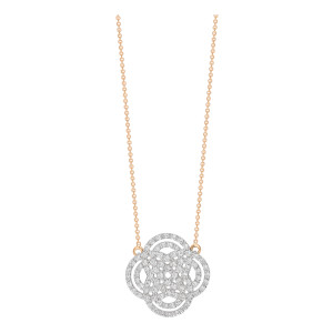 Collier Purity Mini Or Rose Diamants