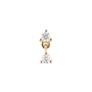 Boucle d'oreille Puce Infinity Diamants (vendue à l'unité)
