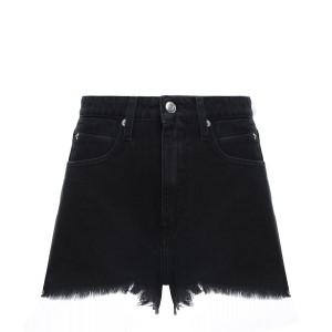 Short Olnay Lin Coton Noir