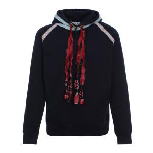 Sweatshirt Hoodie Bohème Coton Biologique Bleu Marine
