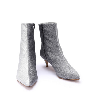 Bottines Bicolores 8 Paillettes Oyster