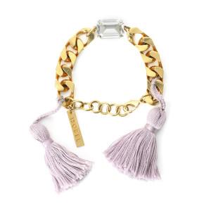 Bracelet Scarlett Swarovski Lilas Laiton Doré