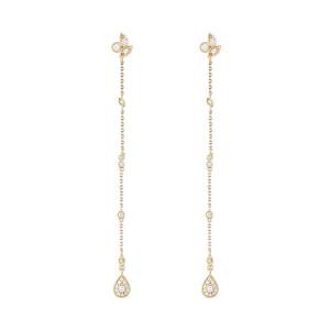 Boucles d'oreilles Jackie Longues Diamants