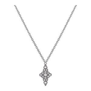 Collier Jade Diamants Or Noir