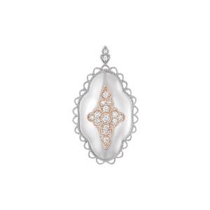 Pendentif Jade Diamants Or Blanc et Rose