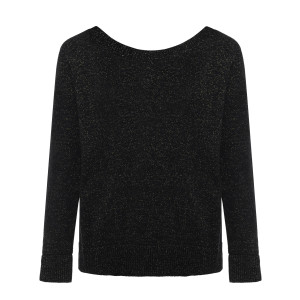 Pull Enzo Maille Lurex Réversible Noir Or