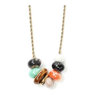 Collier Loma Perles Céramique Plaqué Or