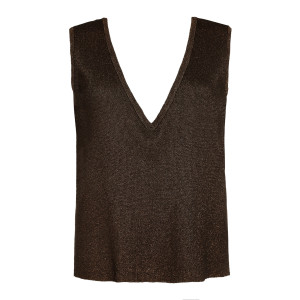 Top Ana Maille Lurex Bronze