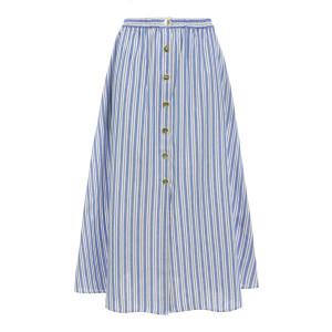 Jupe Littoral Coton Rayé Bleu Blanc