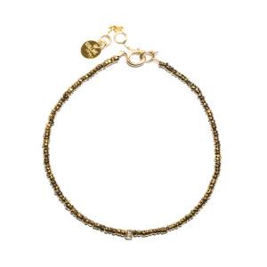 Bracelet Stone Pépite Kaki