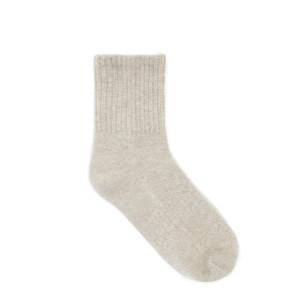 Chaussettes Socks Cachemire Beige Chiné